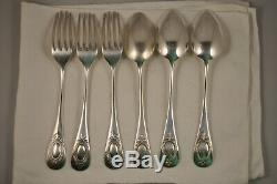 3 Couverts Ancien Argent Massif 800 Antique Solid Silver Cutlery 430gr