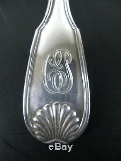 Ancienne Menagere Boulenger Coquille Argent Massif Minerve 12 Couverts