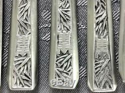 Argent Massif Indochine Vietnam 6 Couverts Chinese Export Silver