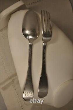 COUVERT ANCIEN ARGENT MASSIF XVIII ANTIQUE SOLID SILVER SILVERWARE 18th. C
