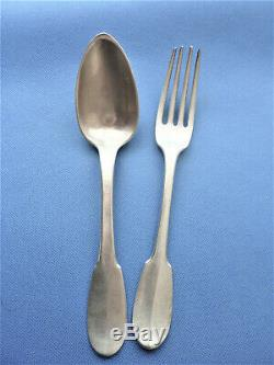 COUVERT ARGENT MASSIF 177 Grs 1er COQ SOLID SILVER CUTLERY FLATWARE BESTECK