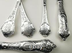 Couverts argent massif 3 pcs André Aucoc Armoiries French sterling