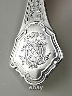 Couverts argent massif 5 pcs André Aucoc Armoiries French sterling