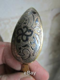 Cuillere Couvert Spoon Ancien Vermeil Russe Russian Niellee Moscou 1837 Orfevre