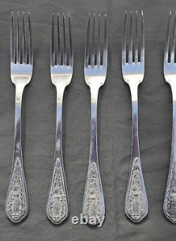 MENAGERE 36 PCS ARGENT MASSIF CHINE INDOCHINE (silver dinner cutlery set)